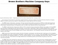 Brown Brothers Machine  Keys