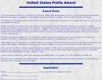 United States Prefix award