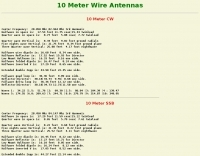 10 Meter Wire Antennas