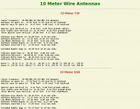 10 Meter Wire Antennas