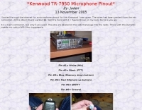 Kenwood TR-7950 Microphone Pinout