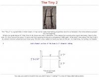 The Tiny 2 - 144 Mhz beam antenna