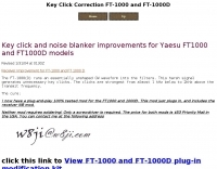 Key Click Correction FT-1000 and FT-1000D