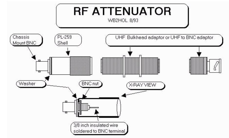 Simple adjustable passive attenuator