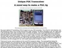Unique PSK Transceiver