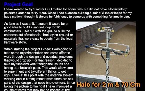 2 Meter & 70 Centimeter Mobile Halo Antenna
