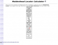 Maidenhead Locator Calculator