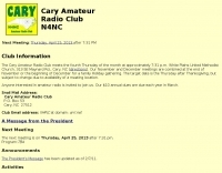 N4NC Cary Amateur Radio Club