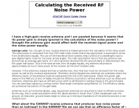 Calculating the Received RF Noise Power