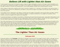 Balloon Lift with Lighter than Air Gases