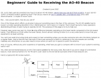 Receiving the AO-40 Beacon