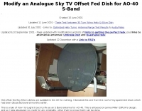 Converting a Sky TV Dish to 60 cm band