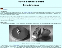 Patch Feed for S-Band Dish Antennas