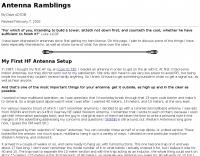 Antenna Ramblings