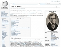 Samule Morse on Wikipedia