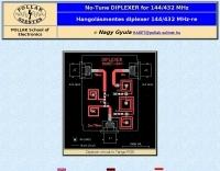 Diplexer for 2 m/70 cm