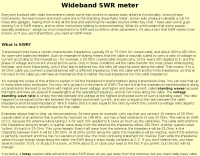 Wideband SWR meter