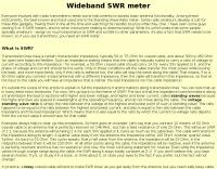 Wideband SWR meter