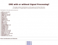 EME with or without Signal Processing?