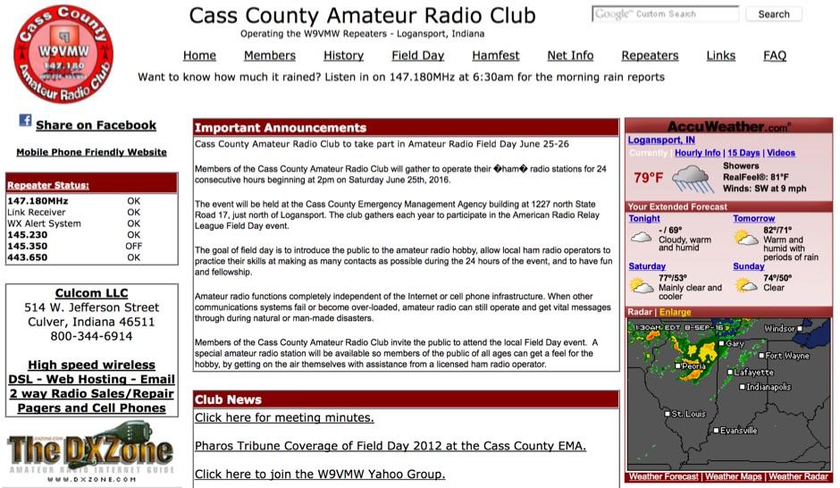 W9VMW Cass County Amateur Radio Club
