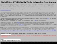 WebSDR in USA K7UEB