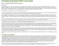 A Simple Dual Band SSB Transceiver