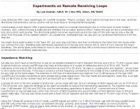 Remote Receiving Loops