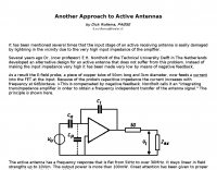 Another Approach to Active Antennas