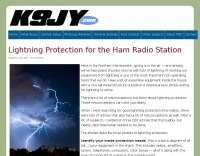 Lightning Protection for the Ham Radio Station