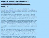 WA0SXV Titan DX review