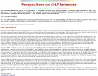GAP Antenna Overview