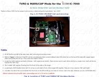 IC-7000 TVRO & MARS/ CAP Mods