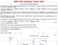 QRP Antenna Tuner for 20 m