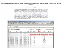 QTF Calculator for 10 GHz Beacons
