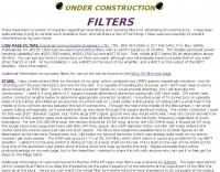 Coaxial Stub Filters