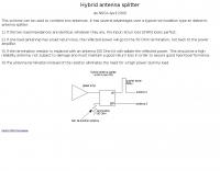 Hybrid antenna splitter
