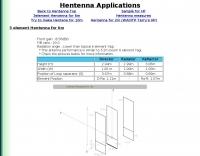 Hentenna Applications