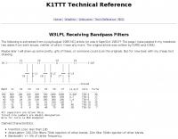 W3LPL Receiving Bandpass Filters