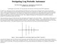Designing Log Periodic Antennas