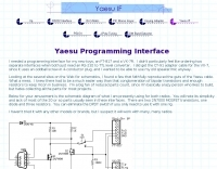 Yaesu Programming Interface