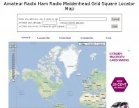 Ham Radio Grid Square Locator Map