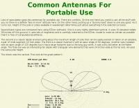 Portable antenna comparison