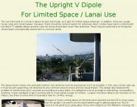 The Upright V Dipole