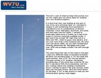 Tilt-over antenna mast