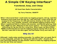 A Simple CW Keying Interface