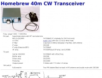 Homebrew 40m CW Transceiver