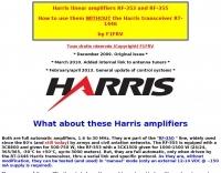 Harris linear amplifiers mods