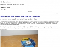 Return Loss, SWR, Power Gain and Loss Calculator