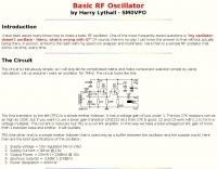 Basic RF Oscillator