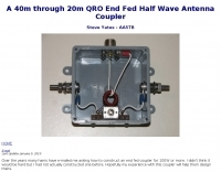 QRO End Fed Half Wave Antenna Coupler